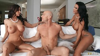 My Two Wives: Peta Jensen and Kendra Lust sharing the best cock in the industry - Johnny Sins