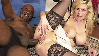 pierced milf irritant fucked by a black monster cock