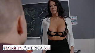 Naughty America - Reagan Foxx teaches her student a special lesson in lecture-hall