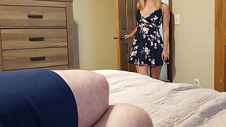 Sister wakes carry on confrere with a blowjob plus gets a creampie